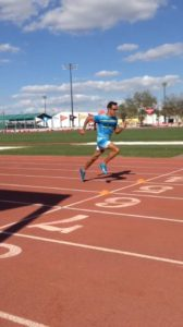 Manzano training for the Olympic Trials.